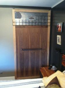 Artistic, reclaimed materials barn door.  100% reclaimed.
