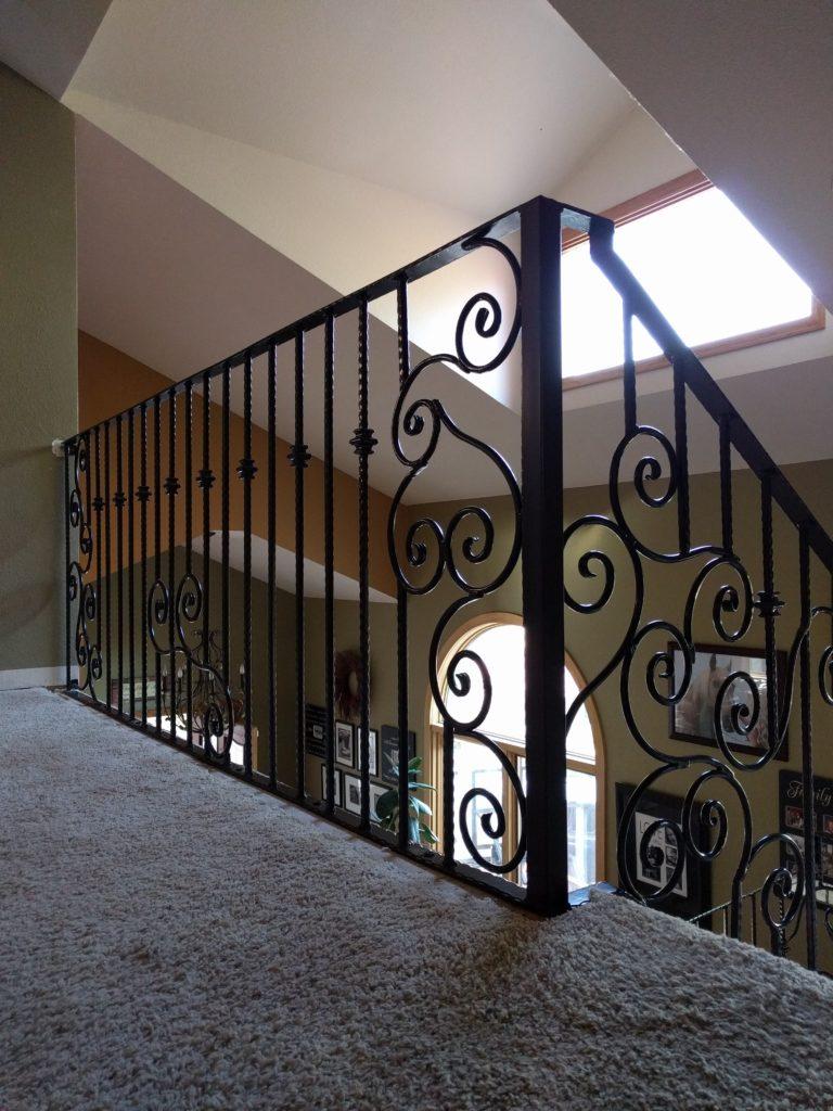 Ironwork banister handrail