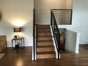 Steel and wood hand rails - Golden