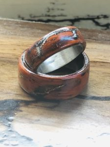 Wood rings with gold inside -  Denver