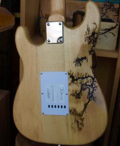 Fine art Lichtenberg Denver custom guitar