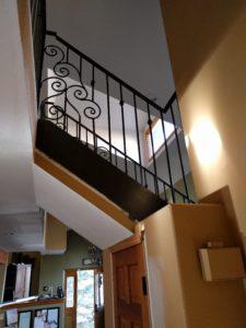 custom handrail ironwork banister