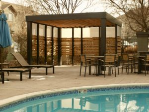 Pool area pergola