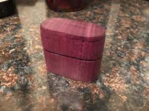 Wood ring box