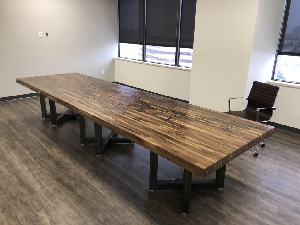 14 foot custom conference table