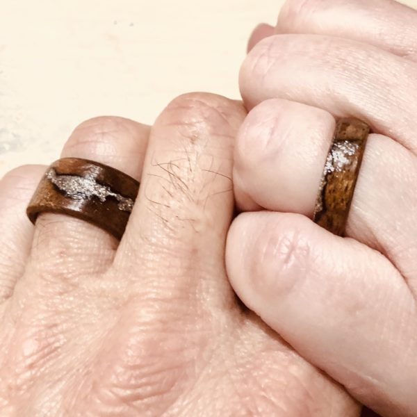 bent wood ring