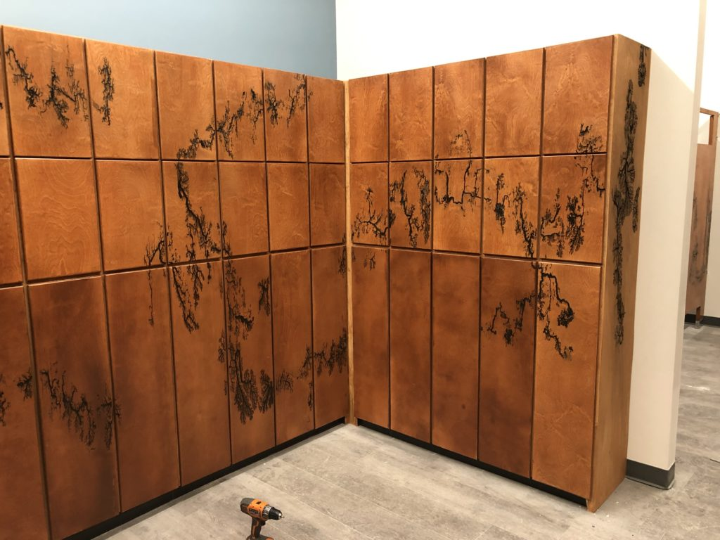 Denver climbing gym custom lockers