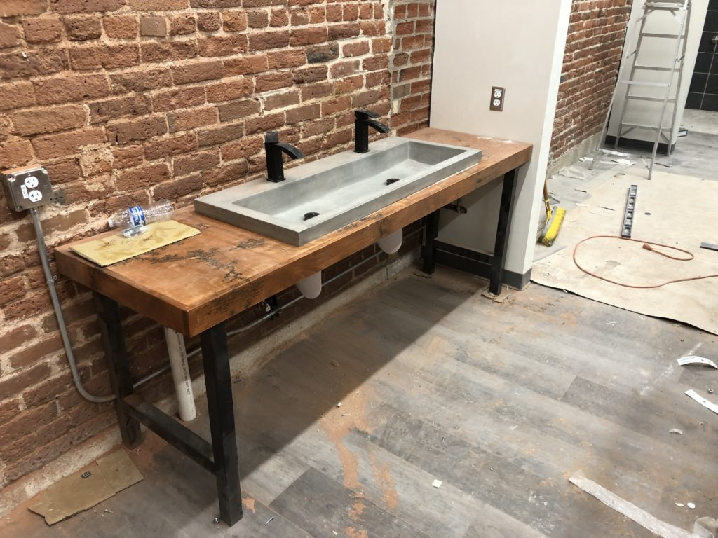 Denver climbing gym custom sinks